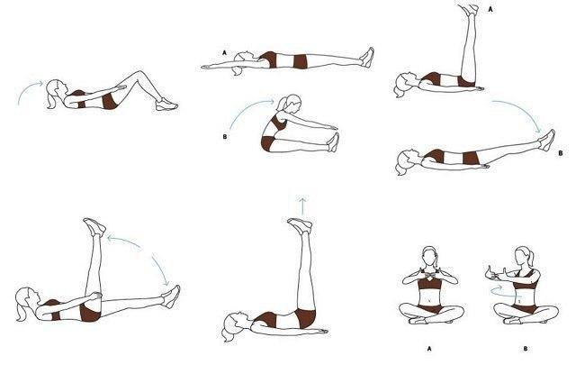 Комплекс упражнений для плоского живота видео в домашних условиях