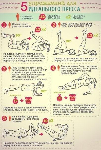 Упражнения помогающие убрать живот и бока в домашних условиях